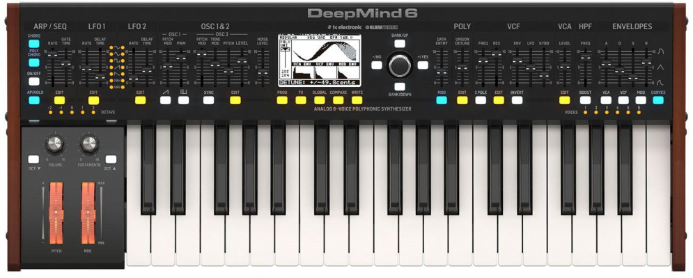 Аналоговый синтезатор Behringer DeepMind 6: фото